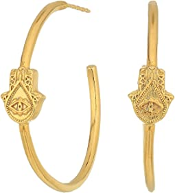 Hand of Fatima Hoop Earrings