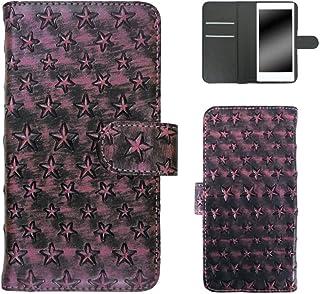 ホワイトナッツ ELUGA P P-03E スマホケース 手帳 星模様 ピンク ケース エルーガ ピー 手帳型 カバー スマホカバー WN-OD092650_M