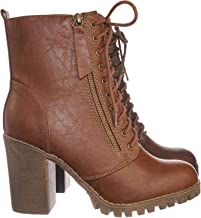 Best brown heeled lace up ankle boots Reviews
