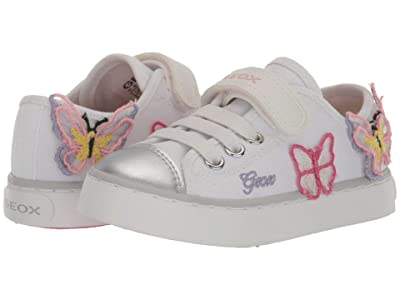 Geox Kids Ciak 72 (Toddler/Little Kid) (White/Pink) Girl