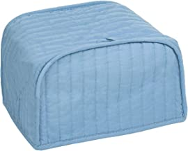 RITZ Polyester / Cotton Quilted Two Slice Toaster Appliance Cover, Dust and Fingerprint Protection, Machine Washable, Light Blue