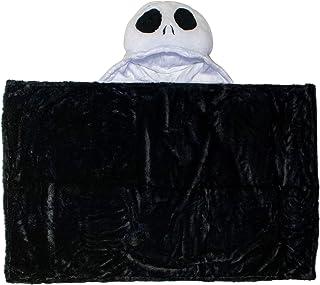 Jay Franco Disney Nightmare Before Christmas Jack Skellington Hooded Blanket – 2-in-1 Wearable Kids Plush Blanket - Fade Resistant Polyester, 50 x 30 (Offical Disney Product)