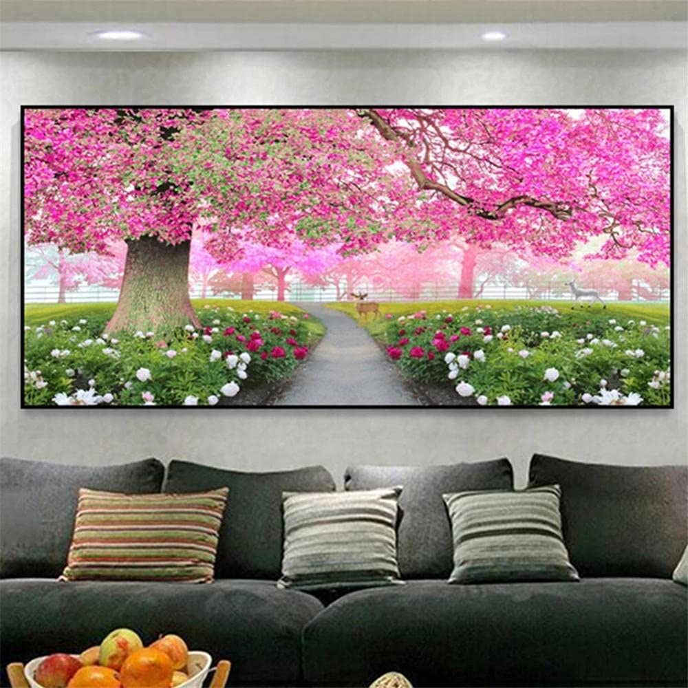 Miami Mall DIY 5D National products Diamond Painting by Emb Number Tree Scenery Kits