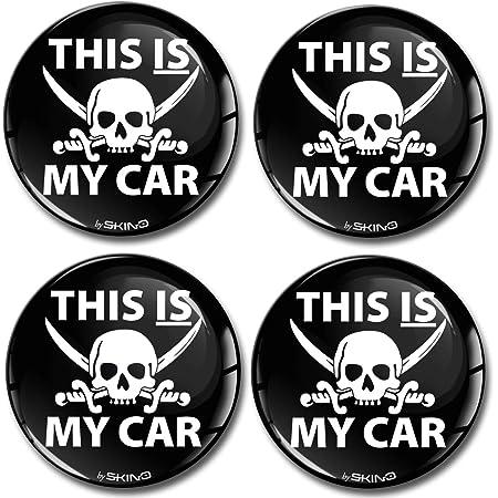 Skinoeu 4 X 60mm Aufkleber 3d Gel Silikon Autoaufkleber Totenkopf Schädel Skull This Is My Car Skelett Felgenaufkleber Für Radkappen Nabenkappen Rad Aufkleber Nabendeckel Auto Tuning A 5360 Auto