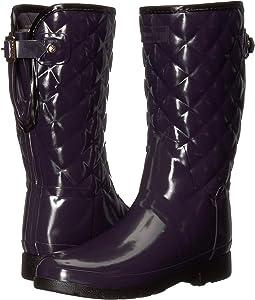 Refined Gloss Quilt Short Rain Boots