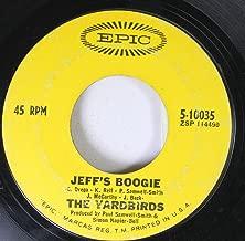 The Yardbirds 45 RPM Jeff's Boogie / Over Under Sideways Down