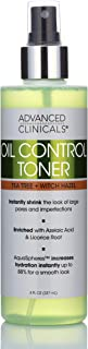 Oil Control Purifying Facial Toner – Hydrating, Non-Greasy Tea Tree Oil, Witch Hazel Toner with Aloe Vera For Pores, and A...
