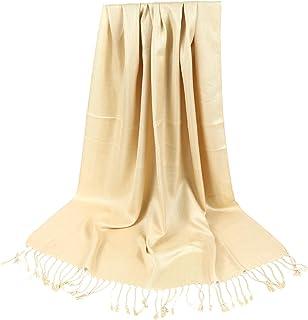 MJScarf Women Twill Solid Color Viscose Wedding Pashmina Shawl Scarf