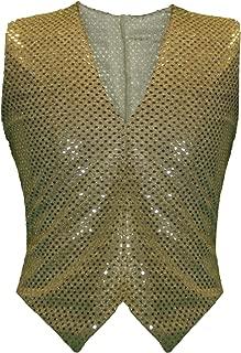 Femme Femme Tricot Métallique Lurex Sans manches Crop Top or argent 8-14