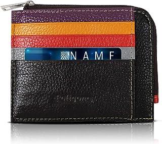 Tarjetero para tarjetas de crédito para hombre y mujer, portatarjetas de piel auténtica de 11 x 9 cm, cartera fina y elega...