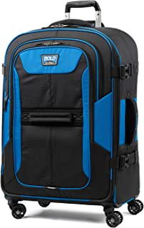Travelpro Bold-Softside Expandable Luggage with Spinner Wheels, Blue/Black