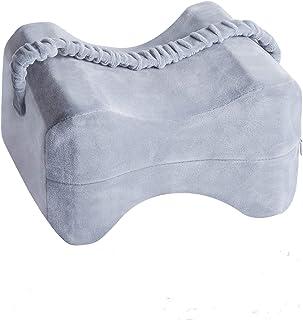 Jolvvvn - Almohada ortopédica para las rodillas, con bolsillo extraíble, espuma viscoelástica, adecuada para mujeres embarazadas, para aliviar el dolor de cadera, espalda y rodillas