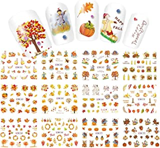 Lookathot 12Sheets Self-adhesive Nail Art Stickers Decals Christmas Design Pattern DIY Decoration Accessories Manicure Tools