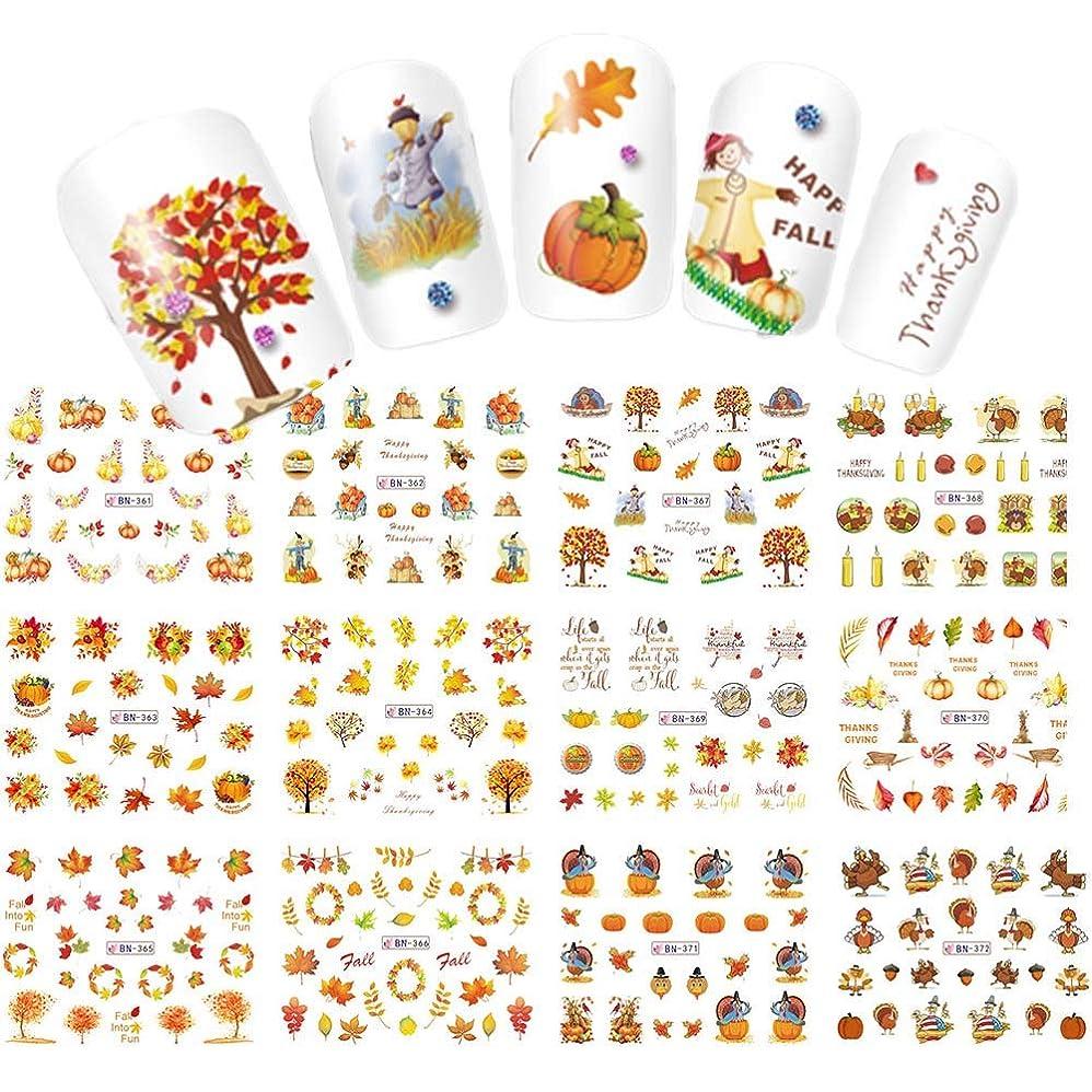 砂差別的ネイティブLookathot 12枚自己接着ネイルアートステッカーデカールクリスマスデザインパターンdiy装飾アクセサリーマニキュアツール