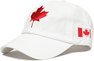 Canada Dad Hat Canadian Maple Leaf Cap Flag Embroidered Unisex Adult
