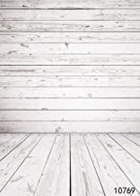 MISYOSO 5x7ft White Wooden Wall Photography Backdrops Wood Floor Background for Photographers Photo Booth Video Props