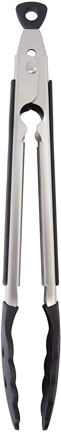 KitchenAid Gourmet Silicone Tipped Nippon regular agency Easy-to-use Tongs Steel Stainless 13.5-I