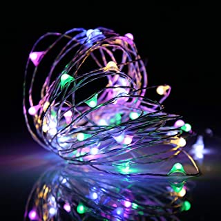Ehome 100 LED 33ft/10m Starry Fairy String Light, Waterproof Decorative Copper Wire Lights for Indoor, Bedroom Festival Christmas Wedding Party Patio Window with USB Interface (Multi Color)