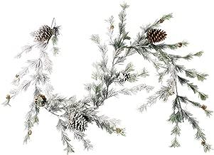 CraftMore Hillsboro Pine Garland with White Snow - 6 Feet