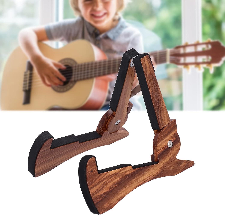 Soporte para guitarra eléctrica, soporte para suelo plegable para guitarras populares para bajos eléctricos para guitarras clásicas para guitarras eléctricas