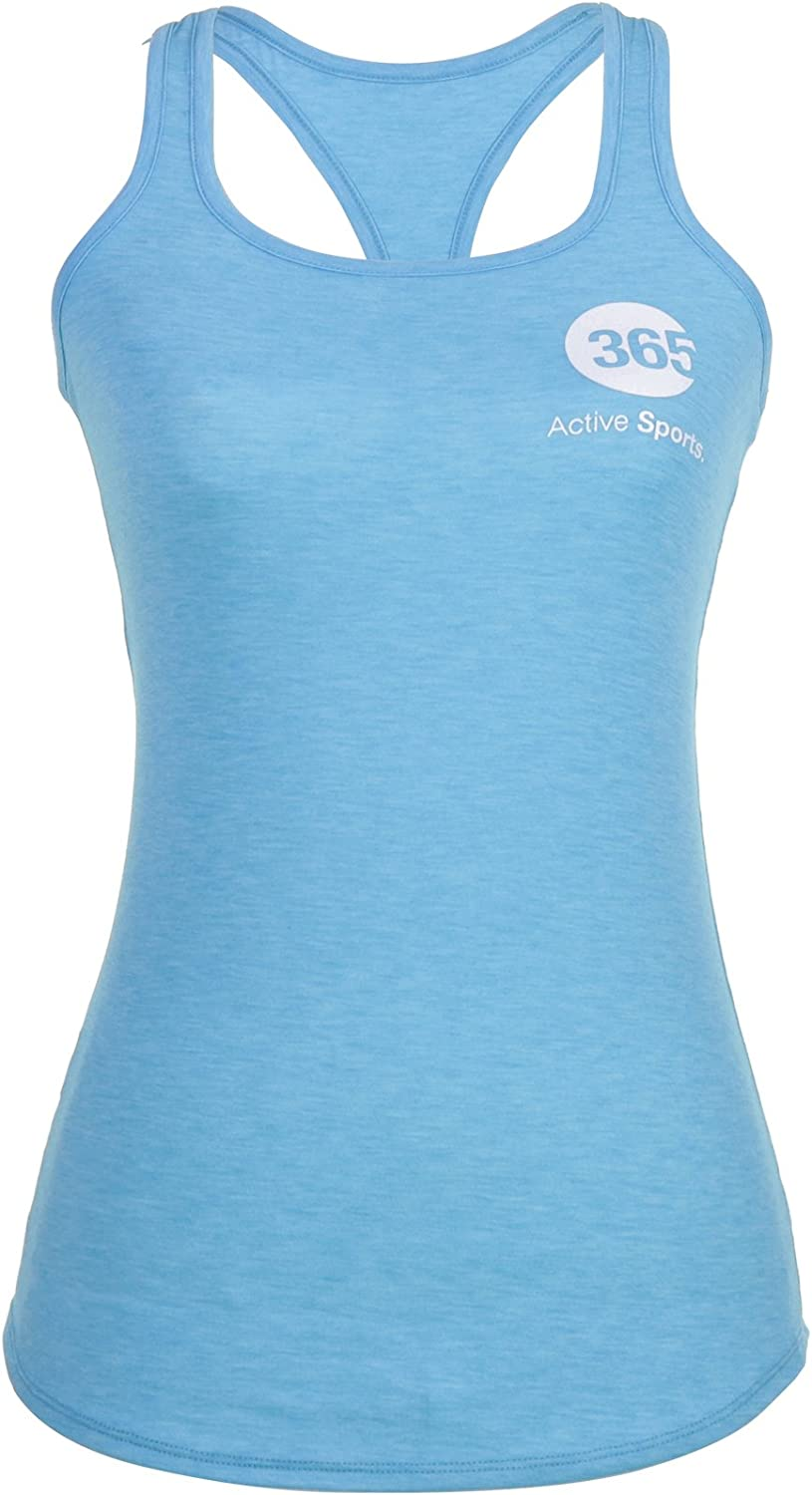 365 Active Wear Workout Tank Tops for Women- Premium Moisture Wicking Athletic Tanks to Control Sweat- Running, Yoga, Gym