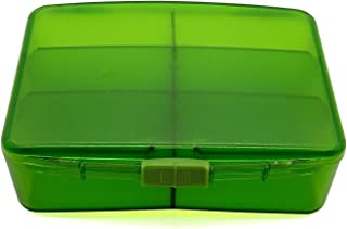 PuTwo Pill Organizer with 6 Large Compartments, Portable Pill Divider for Vitamin, Fish Oil and Supplements-Green