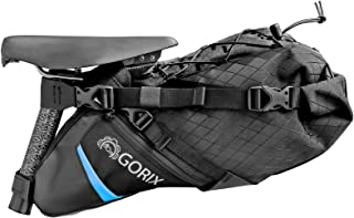 GORIX(ゴリックス) 防水 撥水可能 サドルバッグ [大容量・一体型タイプ 簡単着脱式] ロードバイク マウンテンバイク 他対応 GX-7703