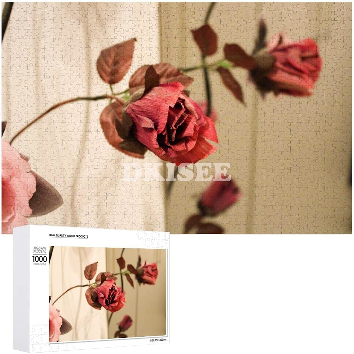 DKISEE Wooden Puzzle Louisville-Jefferson County Mall At the price Funny Pieces Roses 1000 Dried