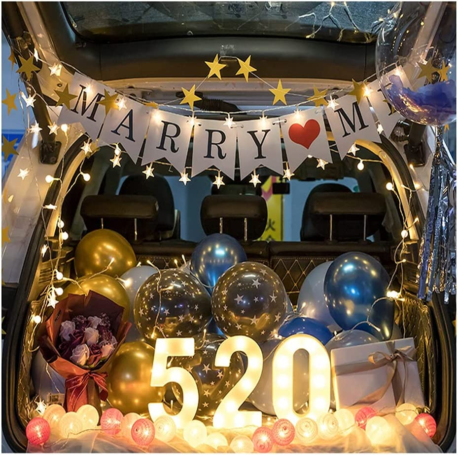 ASKLKD Car Trunk Surprise Decoration Birthday Party Scene Props