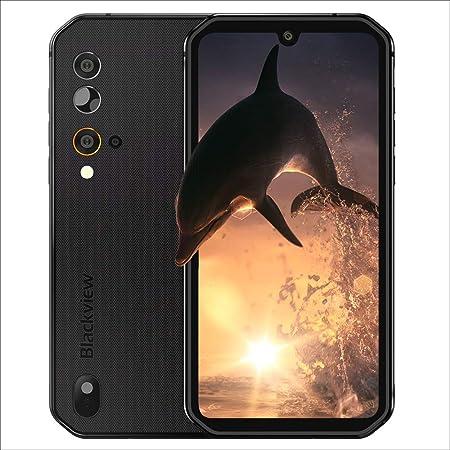 Móvil Resistente, Blackview BV9900E Android 10, 6GB+128GB Helio P90 Móvil Todoterreno 48MP+16MP Cámara, 5.84'' FHD+ Pantalla Completa Smartphone Impermeable IP 69K, 4G Dual SIM Batería 4380mAh NFC/GPS