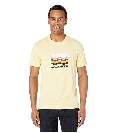 Lacoste Short Sleeve Jersey Graphic T-Shirt (Napolitan Yellow) Men