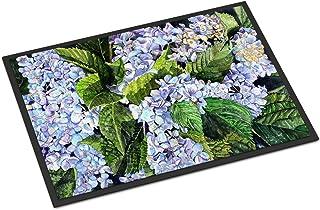 Caroline's Treasures 8730JMAT Hydrangea Indoor or Outdoor Mat 24x36 Doormat, 24H X 36W, Multicolor