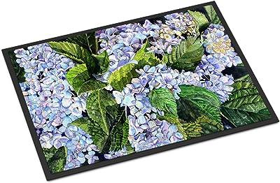 """Caroline's Treasures Hydrangea Indoor or Outdoor Doormat, 24"""" x 36"""", Multicolor"""