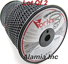 (Lot of 2-Rolls) Original Black Vortex 105 Commercial Trimmer Line 5-Lbs. Large Spool 920 Feet Each, Made in USA