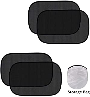 Car Window Shade - (4 Pack) - Cling Sunshade for Car Windows - Sun, Glare and UV Rays Protection for Your Child - Baby Side Window Car Sun Shades (44 * 36CM)