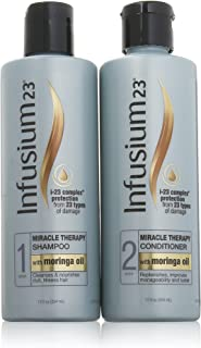 Infusium 23 Miracle Therapy Shampoo and Conditioner Set (Step 1 and Step 2) - i-23 Complex Protection From 23 Types of Damage - Net Wt. 12 FL OZ
