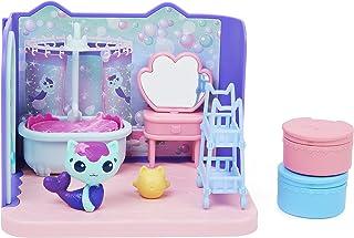 خانه عروسکی گبی ، حمام پریم و پمپر با شکل Mercat ، 3 لوازم جانبی ، 3 مبلمان و 2 تحویل ، اسباب بازی بچه گانه برای سنین 3 سال به بالا