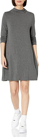 Amazon Brand - Daily Ritual Women's Jersey Mock-Neck Swing Dress
