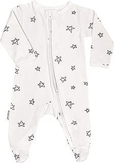 100% Organic GOTS Cotton Baby Unisex Sleep'N Play Footed Long Sleeve Onsie Romper, Pajama Sleeper for Boy Girl (Newborn-18M)
