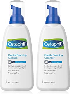 Gentle Foaming Cleanser (Pack of 2) - Gently Cleanses without Leaving Skin Dry or Tight - Rich Airy Lather - For All Skin ...