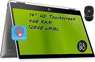 "Flagship HP Chromebook x360 14 2 in 1 Laptop 14"" HD Touchscreen Display Intel Quad-Core Pentium Silver N5000 4GB DDR4 128G..."