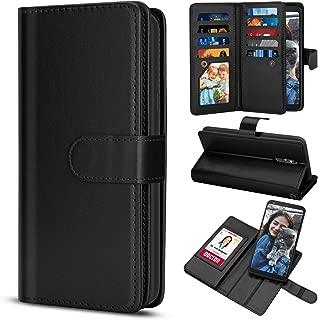 TILL for LG Stylo 4 /LG Q Stylus Plus Case, TILL LG Stylus 4 Wallet Case PU Leather Carrying Flip Cover [Cash Credit Card Slots Holder & Kickstand] Detachable Magnetic Folio 3D Full Case Shell [Black]