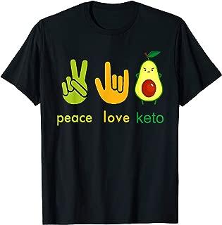 Peace Love Keto Tshirt Painter Avocado Hand Sign Gift