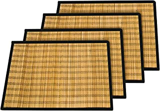Trademark Innovations Bamboo Kitchen Table Placemat Set (Set of 4)