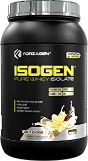 Forzagen Protein Isolate Powder - Isogen   Low Carb   27g of Grass Fed Whey Protein Isolate   Easiest Mixing Ever   Great ...