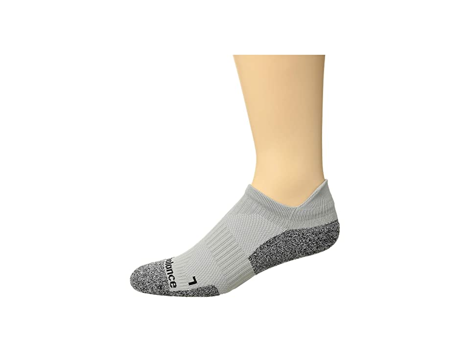 New Balance Cushioned Running No Show Tab Sock 1-Pair Pack (Grey) No Show Socks Shoes