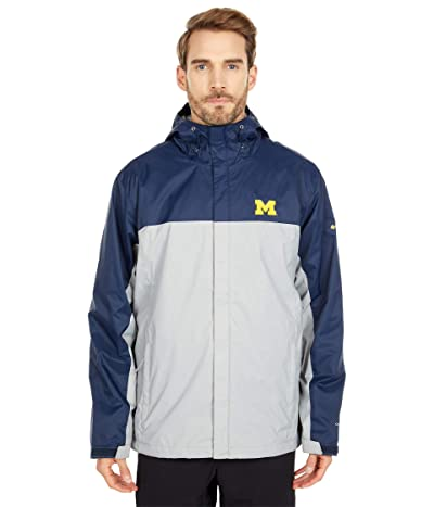 Columbia College Michigan Wolverines Glennaker Stormtm Jacket (Collegiate Navy/Columbia Grey) Men