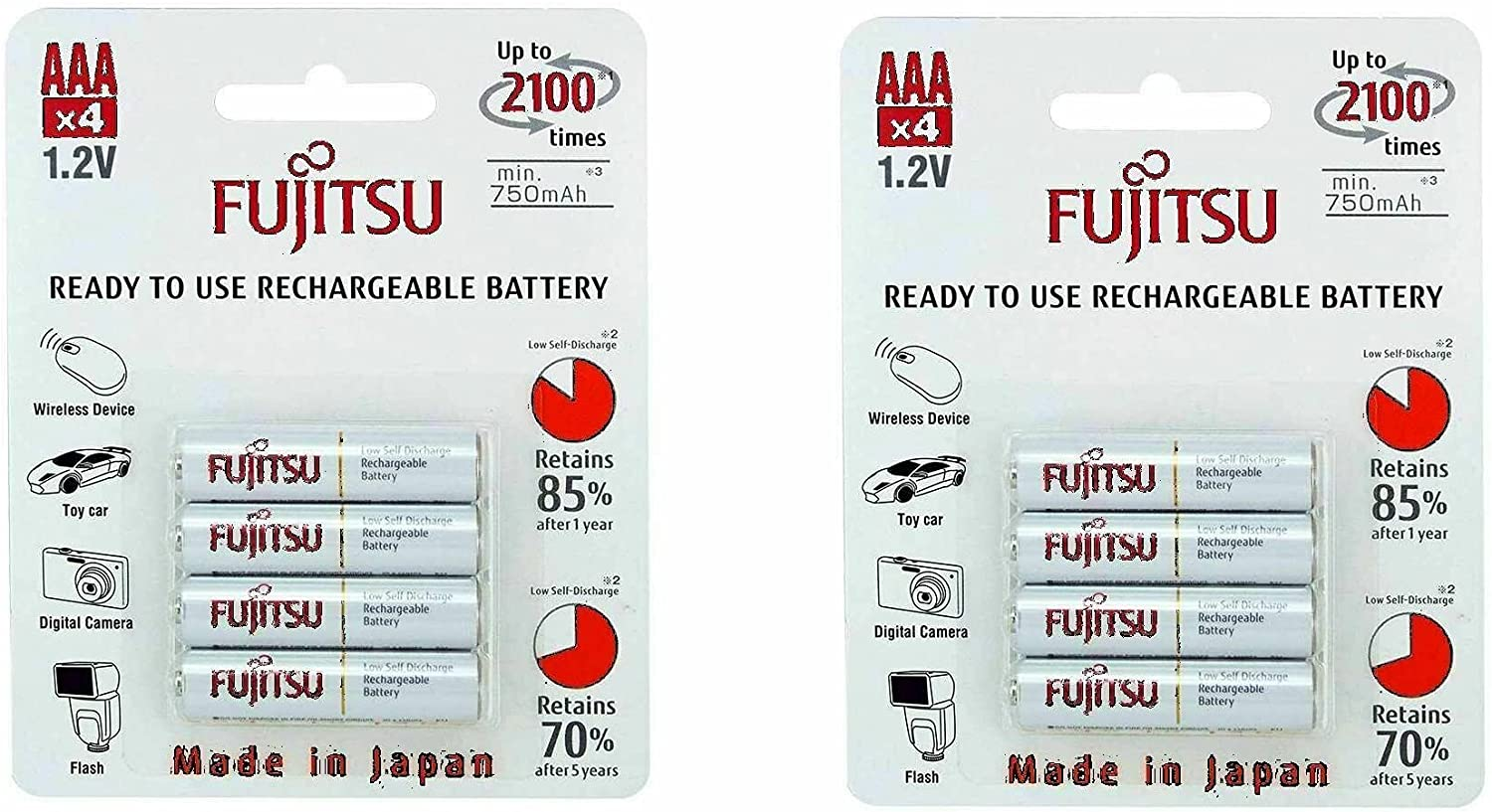 8 Cheap super special price Fujitsu HR4UTC AAA Ready-to-use 2 Free Shipping Cheap Bargain Gift 100 batte times rechargeable