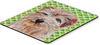 Caroline's Treasures Norfolk Terrier Lucky Shamrock St. Patrick's Day Mouse Pad/Hot Pad/Trivet (SC9736MP)
