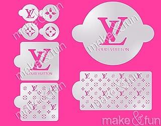 8 pcs LV Designer Fashion Cake Stencil, Cookie Stencil, Schablone Kuchen
